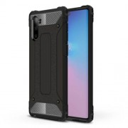 Armor Guard Plastic + TPU Hybrid Phone Cover Casing for Samsung Galaxy Note 10 / Note 10 5G - Black