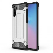Armor Guard Plastic + TPU Hybrid Phone Cover Casing for Samsung Galaxy Note 10 / Note 10 5G - Silver