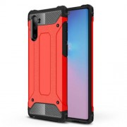 Armor Guard Plastic + TPU Hybrid Phone Cover Casing for Samsung Galaxy Note 10 / Note 10 5G - Red