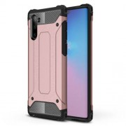 Armor Guard Plastic + TPU Hybrid Phone Cover Casing for Samsung Galaxy Note 10 / Note 10 5G - Rose Gold