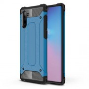 Armor Guard Plastic + TPU Hybrid Phone Cover Casing for Samsung Galaxy Note 10 / Note 10 5G - Baby Blue