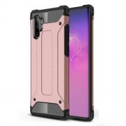 Armor Guard Plastic + TPU Combo Case for Samsung Galaxy Note 10 Plus / Note 10 Plus 5G - Rose Gold