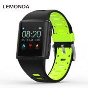 LEMONDA M3 GPS Sports Smart Watch 1.3 inch HD IPS Screen Six Watchfaces Real-time Activity Tracking - Black/Green