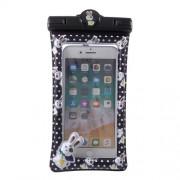 Cartoon Pattern Universal Waterproof Bag Case for 6-inch Smartphone - Black