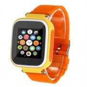 Q80 Παιδικό Smart Watch με Οθόνη, GPS Tracker SOS, Υποστηρίζει SIM κάρτα για IOS Android - Κίτρινο