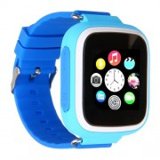 Q80 Παιδικό Smart Watch με Οθόνη, GPS Tracker SOS, Υποστηρίζει SIM κάρτα για IOS Android - Μπλε