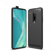 Carbon Fibre Brushed TPU Case for OnePlus 7 Pro - Black