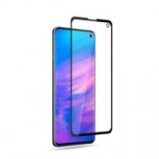 AMORUS Full Glue Silk Printing Tempered Glass Full Screen Protector for Samsung Galaxy S10e