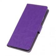 Crazy Horse Leather Wallet Stand Phone Cover for Xiaomi Redmi K20 / Mi 9T / Redmi K20 Pro / Mi 9T Pro - Purple