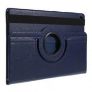 Περιστρεφόμενη Δερμάτινη Θήκη Βιβλίο με Βάση Στήριξης για Samsung Galaxy Tab S5e SM-T720 / SM-T725 - Σκούρο Μπλε