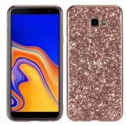 Σκληρή Θήκη με Γκλίτερ για Samsung Galaxy J4 Plus - Ροζέ Χρυσαφί