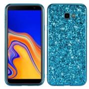 Σκληρή Θήκη με Γκλίτερ για Samsung Galaxy J4 Plus - Μπλε