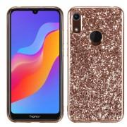 Σκληρή Θήκη με Γκλίτερ για Huawei Y6 Pro (2019) / Honor 8A - Ροζέ Χρυσαφί