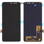Original Samsung LCD and Digitizer Touch Screen for Samsung Galaxy A8 Plus (2018) SM-A730F - Black (GH97-21534A)