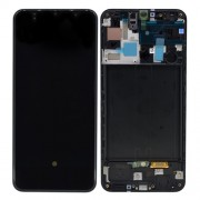 Original Samsung LCD and Digitizer Touch Screen for Samsung Galaxy A50 SM-A505F - Black (GH82-19204A)