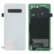 Original Battery Cover for Samsung Galaxy S10 SM-G973F - White (GH82-18378F)