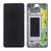 Original Samsung LCD and Digitizer Touch Screen for Samsung Galaxy S10 SM-G973F - Black (GH82-18850A)