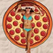 Roundie Pizza Summer Beach Towel Women Sun-proof Scarf Shawl