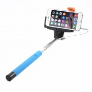 KJSTAR Σελφοκόνταρο για Φωτογραφίες Selfie με Καλώδιο 3.5mm Audio για iOS και Android - Μπλε