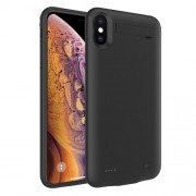 DV-101 5200mAh Battery Charger Cover for iPhone XS Max 6.5 inch with Kickstand - Black