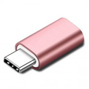 8Pin Lightning Female to USB-C Type-C Male Adapter Converter Support Charging and Syncing - Rose Gold