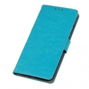 Crazy Horse Leather Wallet Stand Case for Xiaomi Black Shark 2 - Blue