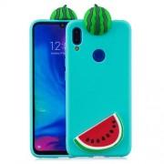 3D Pattern TPU Gel Protective Case for Xiaomi Redmi 7/Redmi Y3 - Watermelon
