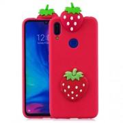 3D Pattern TPU Gel Protective Case for Xiaomi Redmi 7/Redmi Y3 - Strawberry
