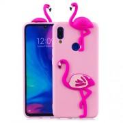 3D Pattern TPU Gel Protective Case for Xiaomi Redmi 7/Redmi Y3 - Flamingo
