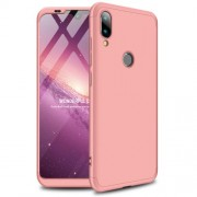 GKK 360 μοιρών Σκληρή Θήκη Ματ με Βελούδινη Υφή Πρόσοψης και Πλάτης για Xiaomi Mi Play - Ροζέ Χρυσαφί