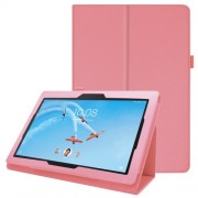 Litchi Skin Leather Stand Case for Lenovo Tab E10 - Pink
