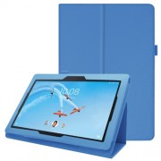 Litchi Skin Leather Stand Case for Lenovo Tab E10 - Baby Blue