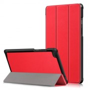 Δερμάτινη Θήκη Βιβλίο Tri-Fold με Βάση Στήριξης για Lenovo Tab E8 TB-8304F - Κόκκινο