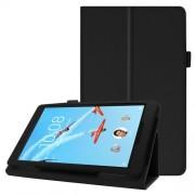 Δερμάτινη Θήκη Βιβλίο με Βάση Στήριξης για Lenovo Tab E8 TB-8304F - Μαύρο