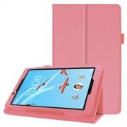 Δερμάτινη Θήκη Βιβλίο με Βάση Στήριξης για Lenovo Tab E8 TB-8304F - Ροζ