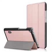 Δερμάτινη Θήκη Βιβλίο Tri-Fold με Βάση Στήριξης Huawei MediaPad T3 7.0 - Ροζέ Χρυσαφί