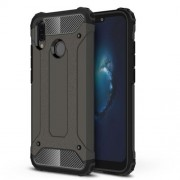 Armor Guard Plastic + TPU Hybrid Protective Case for Huawei P20 Lite / Nova 3e (China) - Coffee