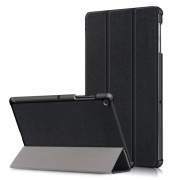 PU Leather Smart Case with Tri-fold Stand for Samsung Galaxy Tab S5e SM-T720/SM-T725 - Black