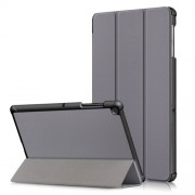 PU Leather Smart Case with Tri-fold Stand for Samsung Galaxy Tab S5e SM-T720/SM-T725 - Grey