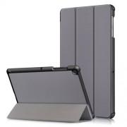 Δερμάτινη Θήκη Βιβλίο Tri-Fold με Βάση Στήριξης για Samsung Galaxy Tab S5e SM-T720 / SM-T725 - Γκρι