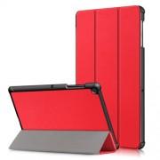 Δερμάτινη Θήκη Βιβλίο Tri-Fold με Βάση Στήριξης για Samsung Galaxy Tab S5e SM-T720 / SM-T725 - Κόκκινο
