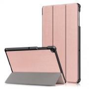 Δερμάτινη Θήκη Βιβλίο Tri-Fold με Βάση Στήριξης για Samsung Galaxy Tab S5e SM-T720 / SM-T725 - Ροζέ Χρυσαφί
