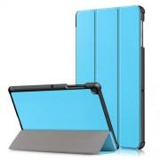 Δερμάτινη Θήκη Βιβλίο Tri-Fold με Βάση Στήριξης για Samsung Galaxy Tab S5e SM-T720 / SM-T725 - Γαλάζιο