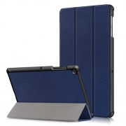 PU Leather Smart Case with Tri-fold Stand for Samsung Galaxy Tab S5e SM-T720/SM-T725 - Dark Blue
