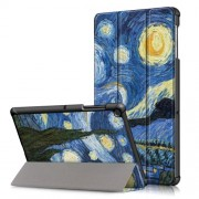 Pattern Printing Tri-fold Stand PU Leather Smart Case for Samsung Galaxy Tab S5e SM-T720/SM-T725 - Starry Night