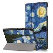 Δερμάτινη Θήκη Βιβλίο Tri-Fold με Βάση Στήριξης για Samsung Galaxy Tab S5e SM-T720 / SM-T725 - Έναστρη Νύχτα