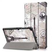 Δερμάτινη Θήκη Βιβλίο Tri-Fold με Βάση Στήριξης για Samsung Galaxy Tab S5e SM-T720 / SM-T725 - Πύργος του Άιφελ