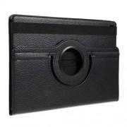 Περιστρεφόμενη Δερμάτινη Θήκη Βιβλίο με Βάση Στήριξης για Samsung Galaxy Tab S5e SM-T720 / SM-T725 - Μαύρο