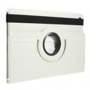 Περιστρεφόμενη Δερμάτινη Θήκη Βιβλίο με Βάση Στήριξης για Samsung Galaxy Tab S5e SM-T720 / SM-T725 - Λευκό