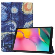 Pattern Printing Tri-fold Stand Leather Smart Case for Samsung Galaxy Tab A 10.1 (2019) SM-T515 - Oil Painting